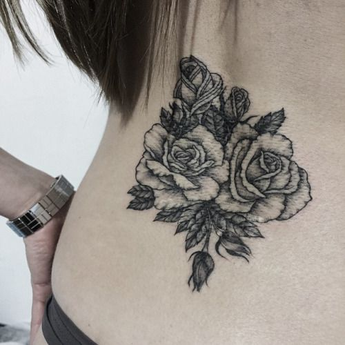 #sashatattooing #rose #tattoo #dotwork #linework #VSCOcam (at Sashatattooing)