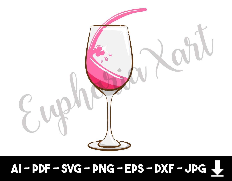 Wine Glass Svg Wine Glass Clipart Wine Glass Cartoon Wine Glass