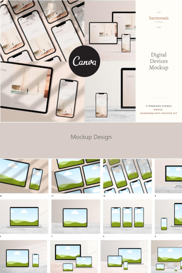 Beautiful Canva Digital Devices Mockup Portfolio Web Design Web Mockup Mockup Design