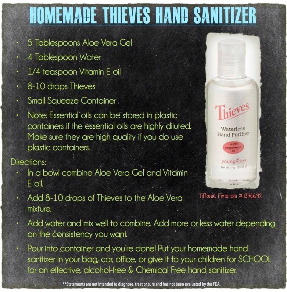 Homemade thieves hand sanitizer Do It Yourself