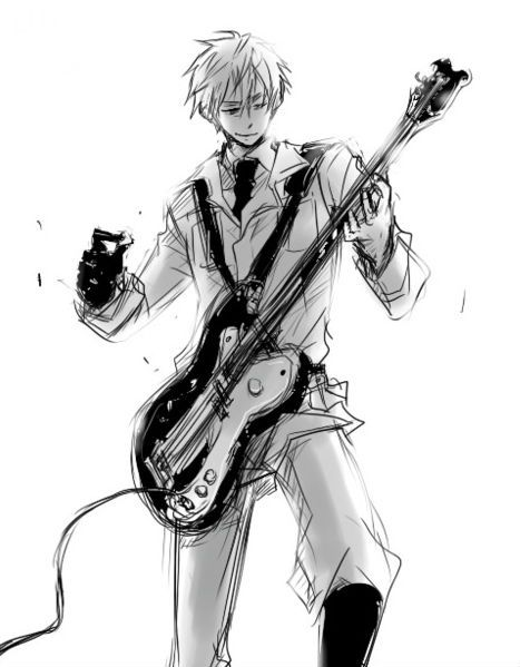 EnglandGuitar By STOP AND SMELL ROSES On DeviantArt Manga BoyAnime Boys Playing