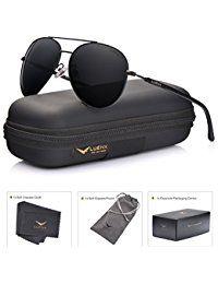 aec00ee03 LUENX Men Aviator Sunglasses Polarized Women - UV 400 with case 60MM ...