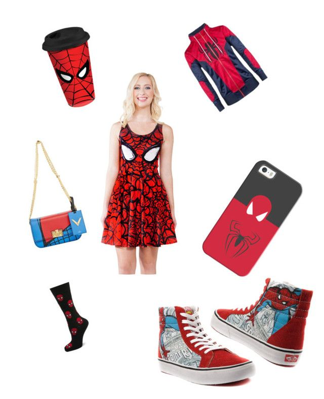"""""""Spider-Man"""" by jktulia ❤ liked on Polyvore featuring Valentino, Casetify, Cufflinks, Inc. and Vans"""