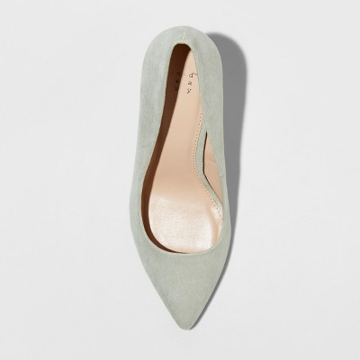 76a11a1673a Women s Gemma Wide Width Pointed Toe Heeled Pumps - A New Day Mint Green  8.5W