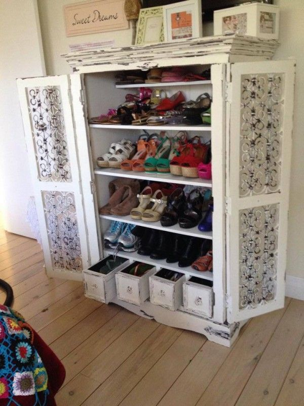 Incroyable TV Unit To Shoe Armoire | Reader Projects Featured On Remodelaholic.com  #diy #
