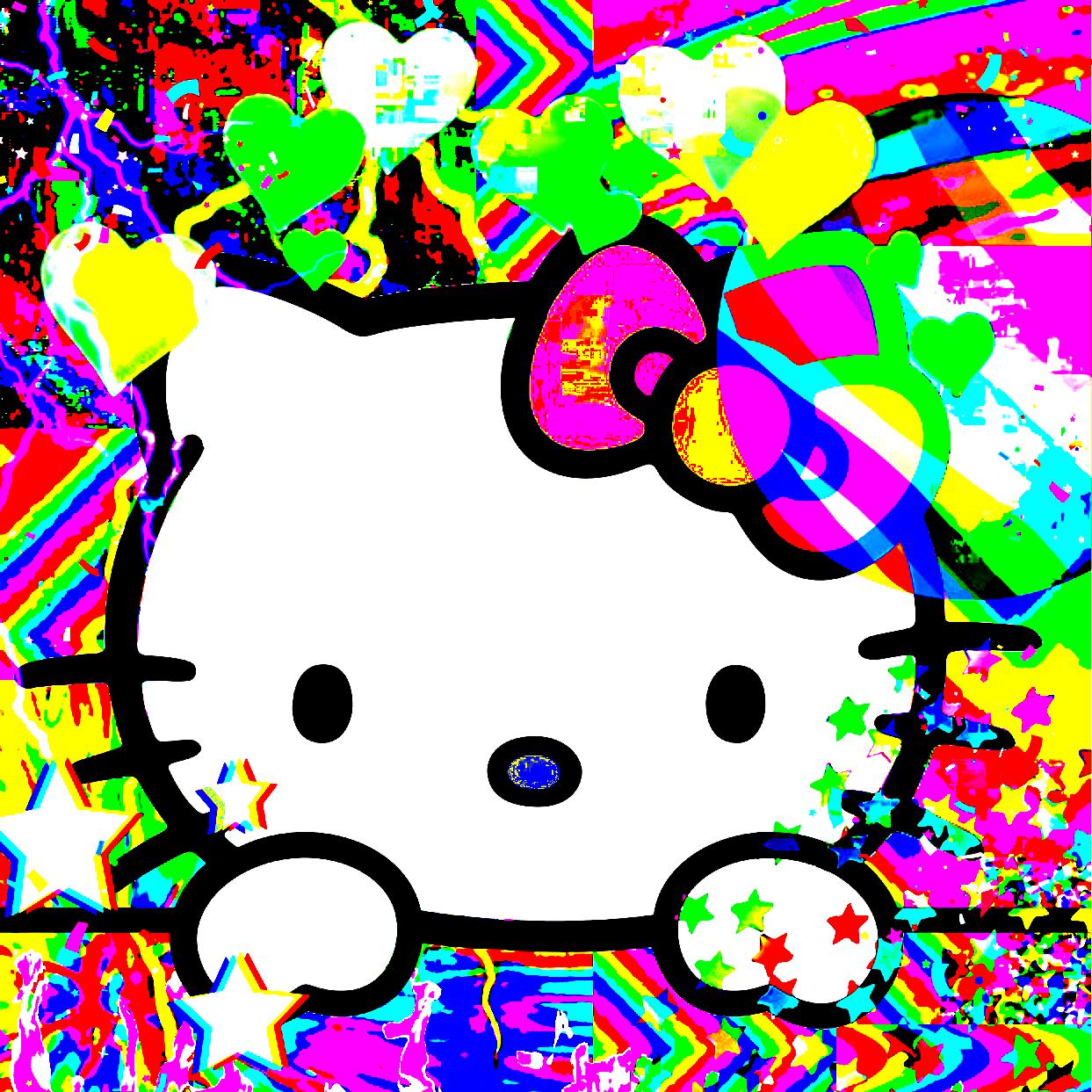 Rainbow Aesthetic, Hello Kitty