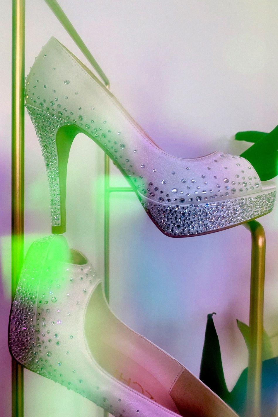 Princess A Petite Size Pretty Silk Wedding Shoe With Its Classic