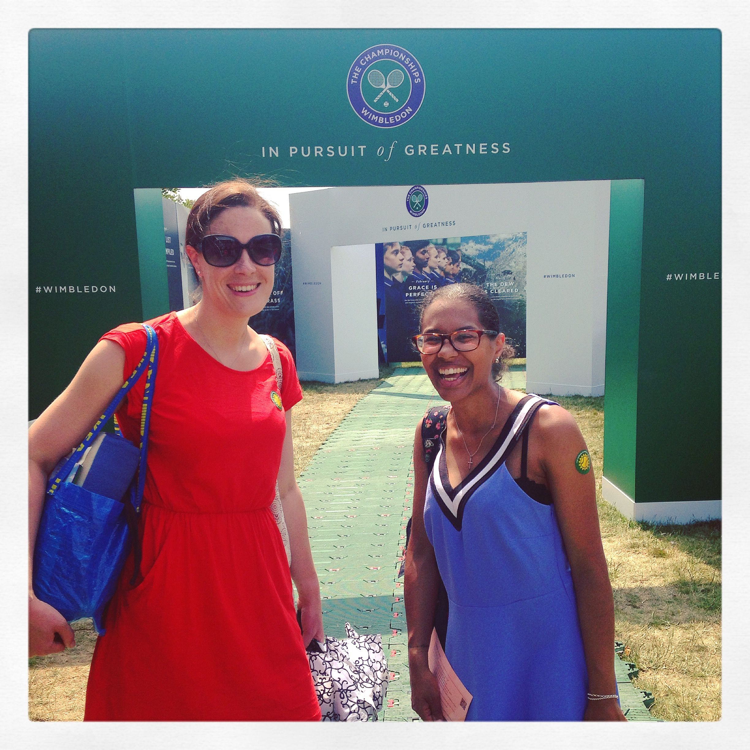 An ace day out at Wimbledon with my BBC bestie 🎾🍓🎾🍓