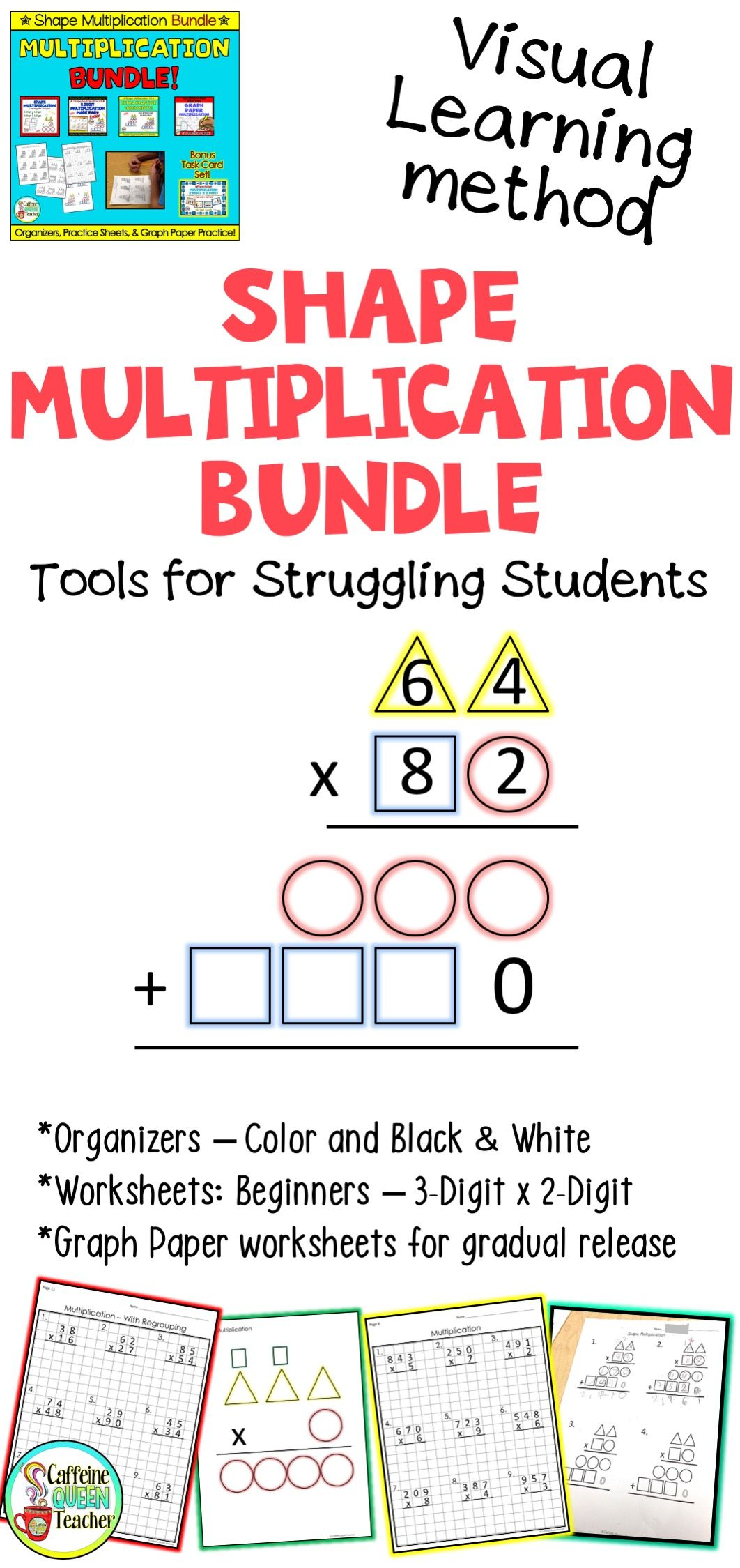 Multiplication Worksheets And Organizers Differentiated