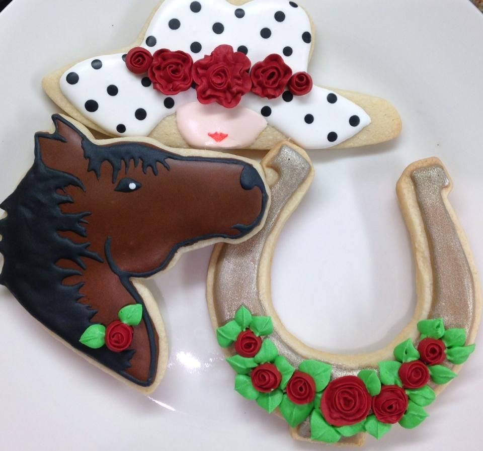 Posh Hat Horse And Horseshoe Cookies For All Your Cake