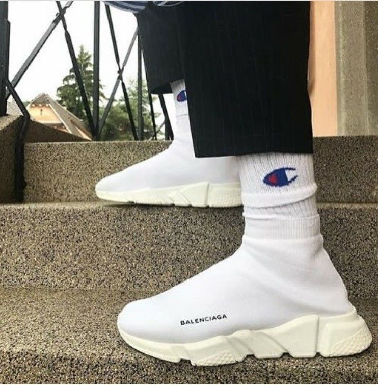 c6eedc8a094f Balenciaga Speed Trainer Mesh Sock Shoes Sneakers Runner  148.99 Colorway   White Size  6-12 US Release Date  January 26th