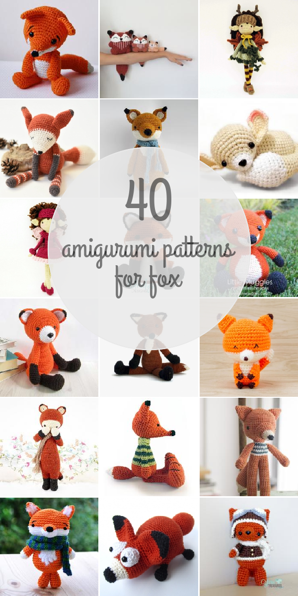 Amigurumi Patterns For Fox | Amirugumis | Croché, Amigurumi, Ganchillo