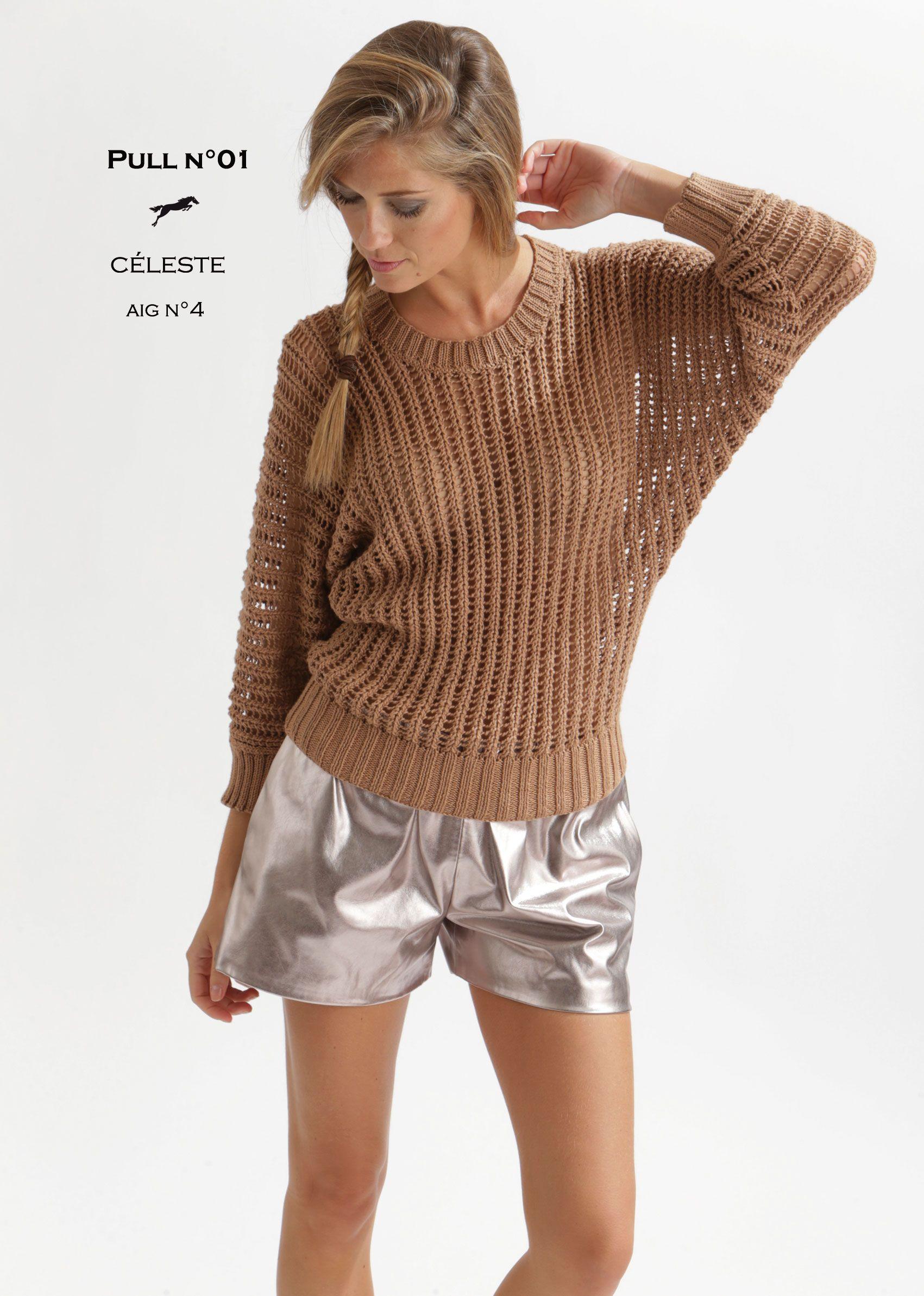 mod le de tricot pull femme catalogue cheval blanc n 20 laine utilis e celeste inverno. Black Bedroom Furniture Sets. Home Design Ideas