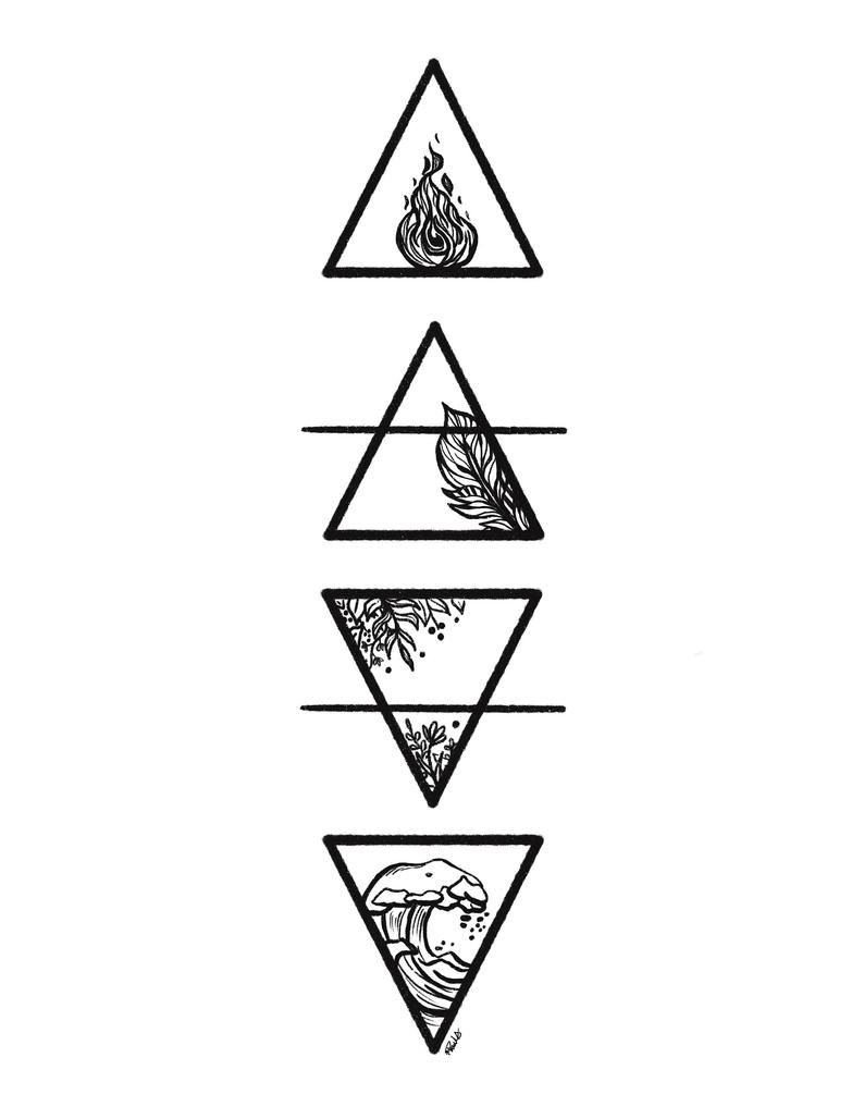 The Four Elements: Fire, Air, Earth, and Water - D