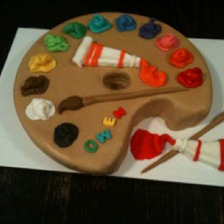 Cake With Artist Palette : Painters palette cake Kassie s Cakes Pinterest Cake ...