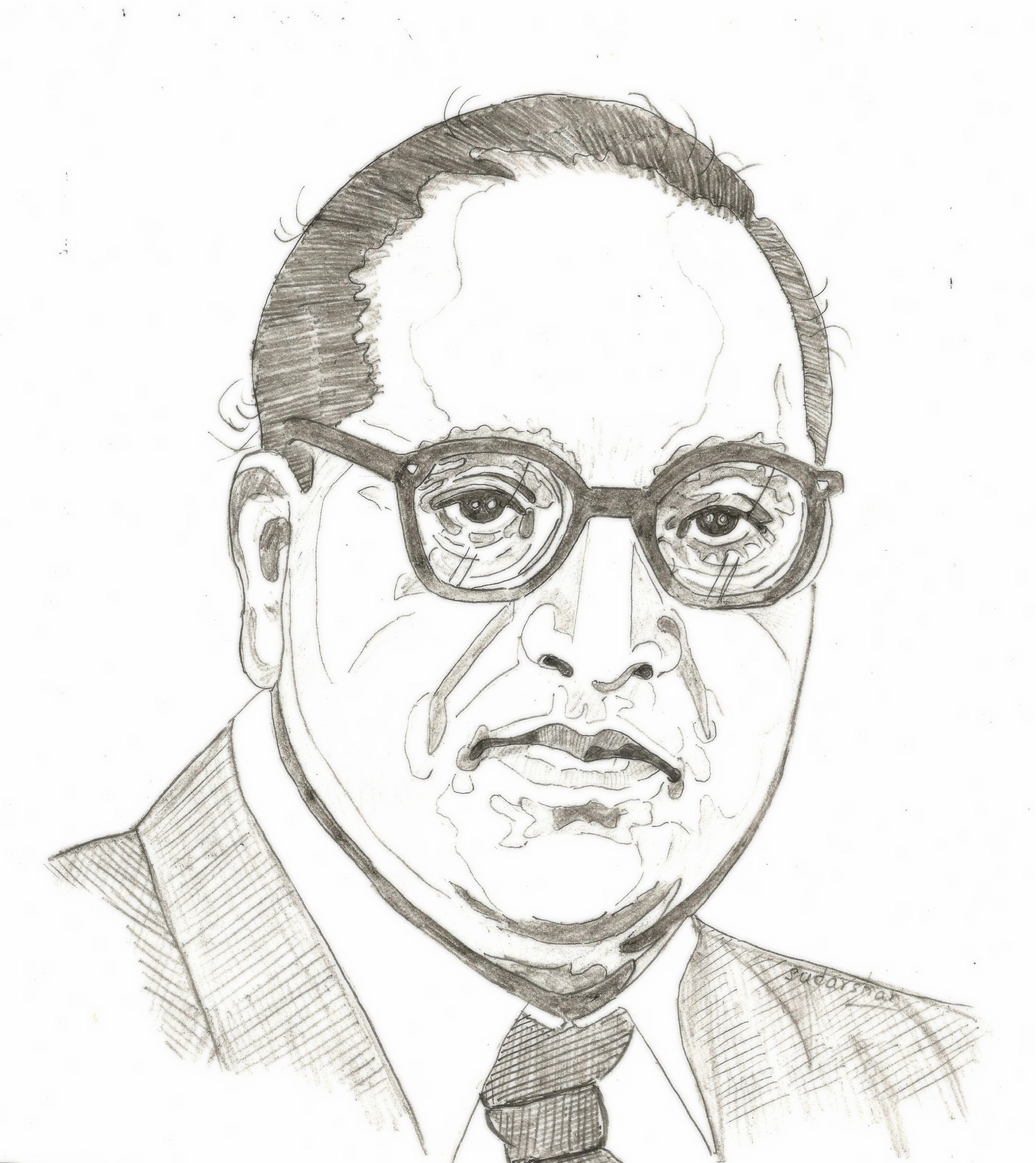 Dr B R Ambedkar Buddha Drawing Landscape Paintings Acrylic Person Sketch
