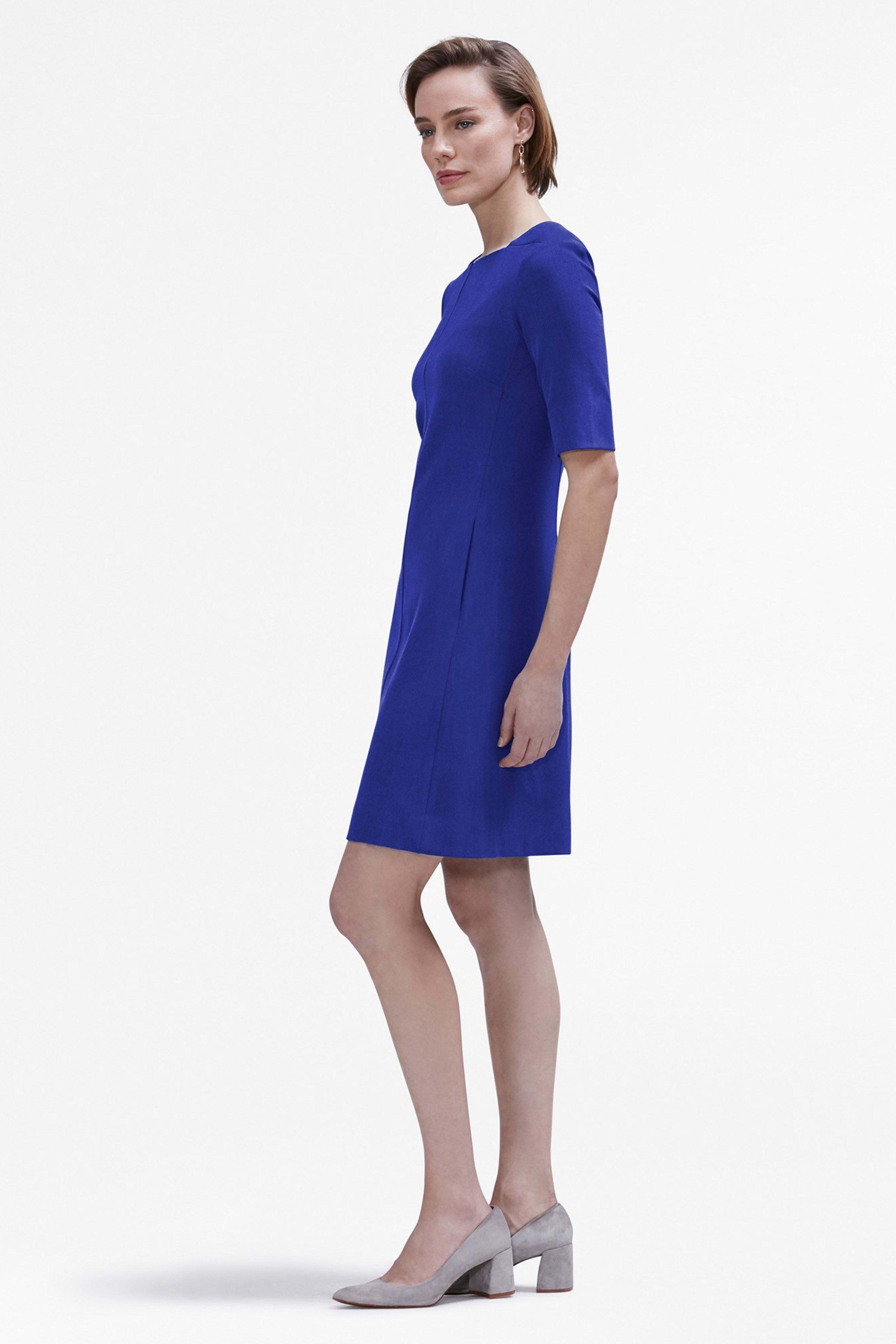 The Emily Dress Cobalt | A line skirts, Dresses, Dresses
