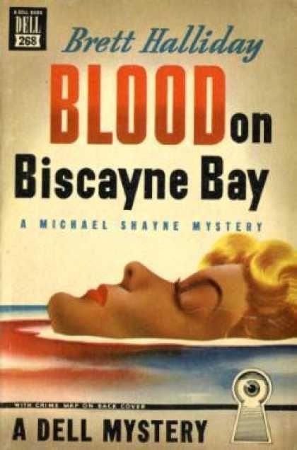 Dell Books - Blood on BIscayne Bay - Brett Halliday