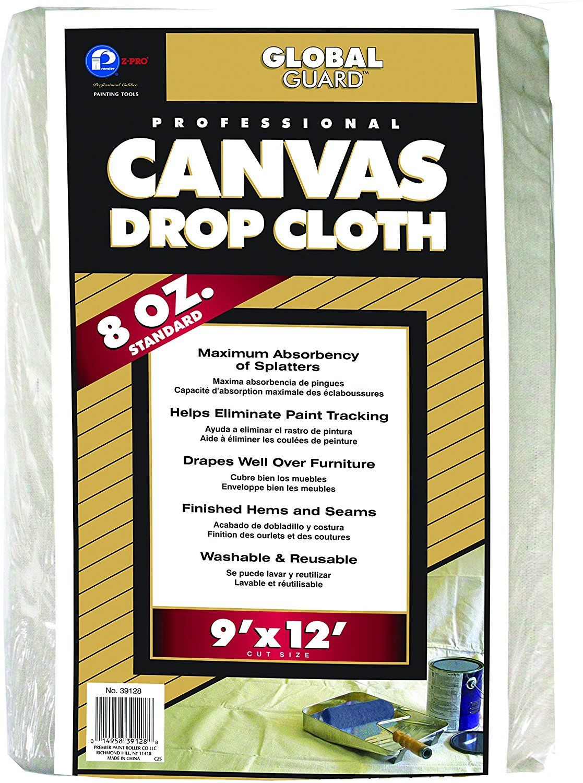 Premier 9' x 12' Standard Canvas Drop Cloth 8 oz, 39128 ...