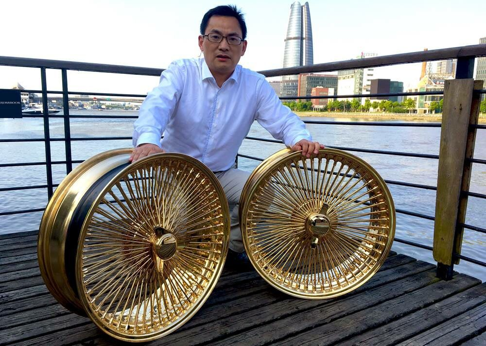22s 24K All Gold 150 Spokes Knock off FWD In stock $3000 ...