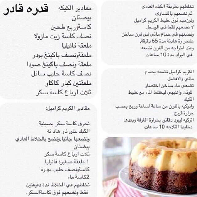 كيكة قدرة قادر Food Dessert Recipes Food Recipies