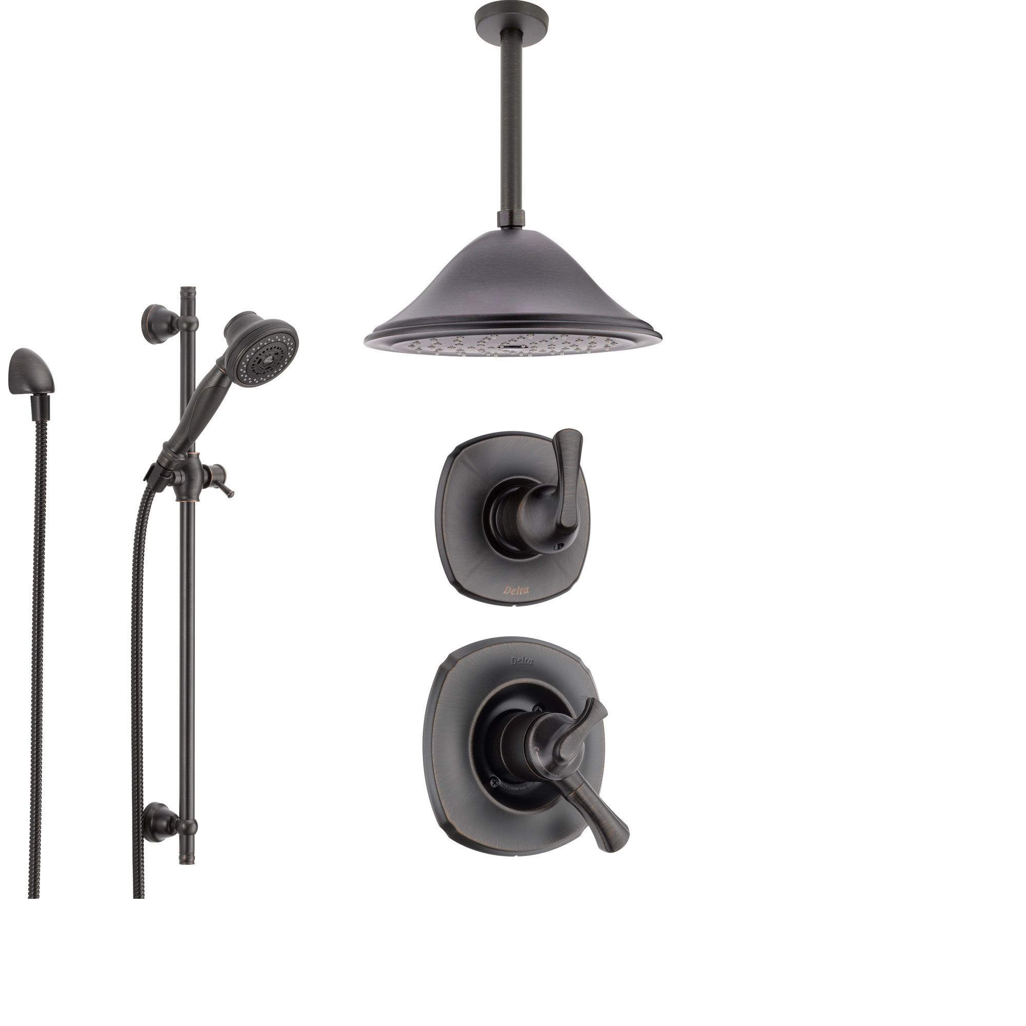 Delta Addison Venetian Bronze Shower System with Dual Control ...