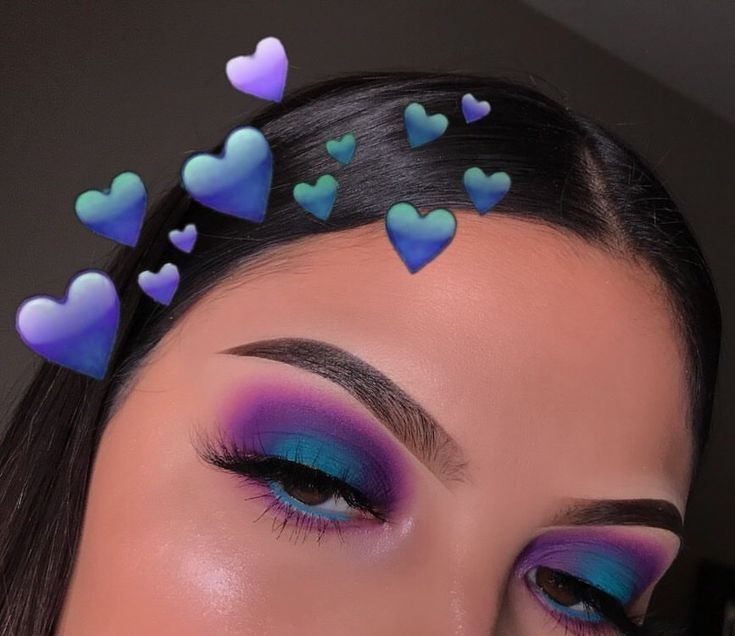 Purple/teal 💜✨ . Follow @chellylovesmakeup91 for more makeup posts 💜 . E… –  #chellylovesma…