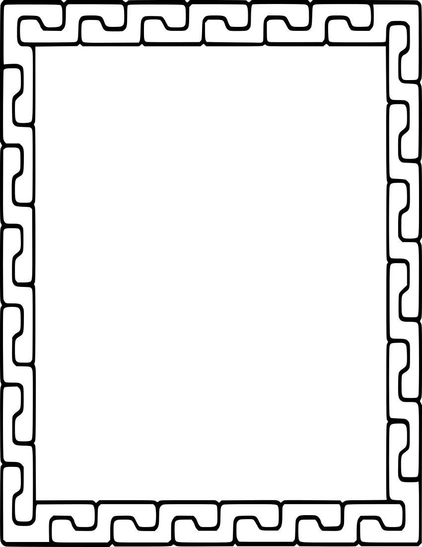 Interlocking Pieces Frame Page Borders Design Clip Art Frames Borders Page Borders
