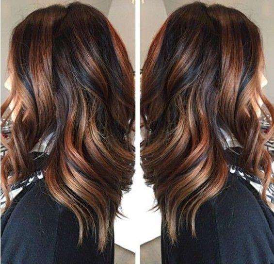 spesso Ecaille hair base scura e riflessi rosso ramato | colore capelli  ML67