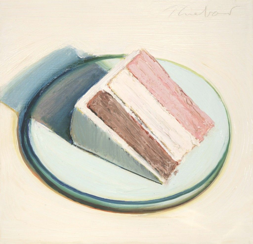 painting of the perfect neapolitan cake