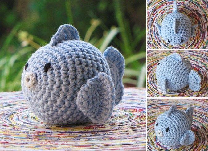 Simpticos pececitos tejidos a crochet! Ideales para decorar cuartos ...