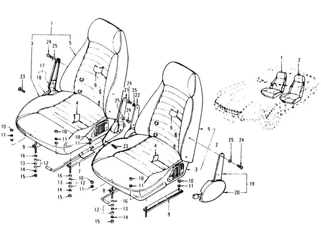 Datsun 240z Seat  U0026 Slide  Type 2 Reclining Seat   To Jul
