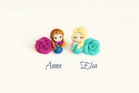 Elsa Magnético pendientes de princesa Elsa de pendientes.