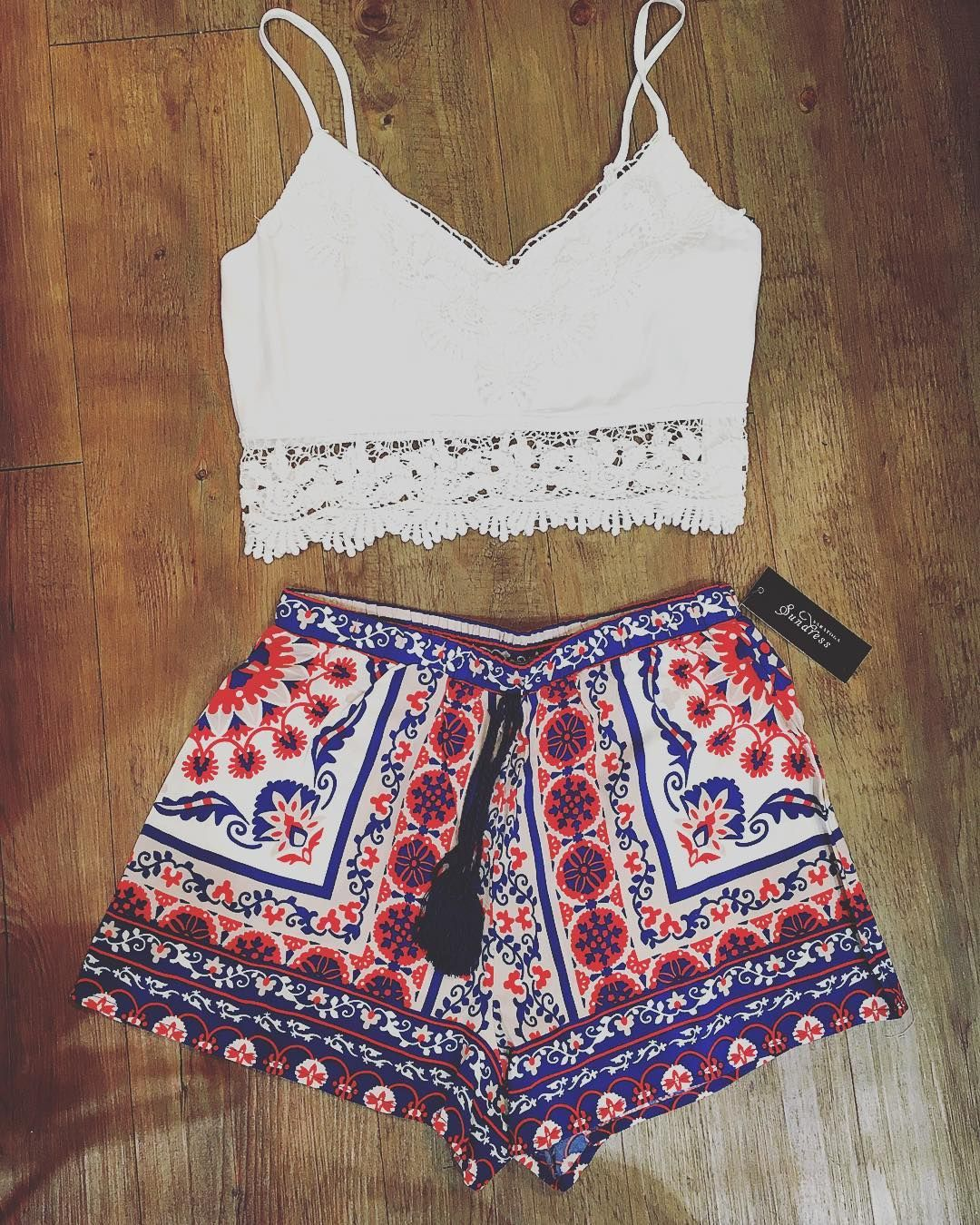 New shorts and crop tops! ❤️ @saratogasundress instagram
