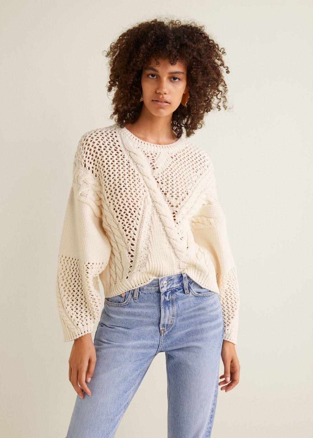 Jersey punto calado - Mujer en 2019   Tejidos   Camisola, Punto y Sweter