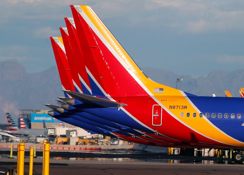 Grounded Southwest Boeing 737 Max 8 makes emergency