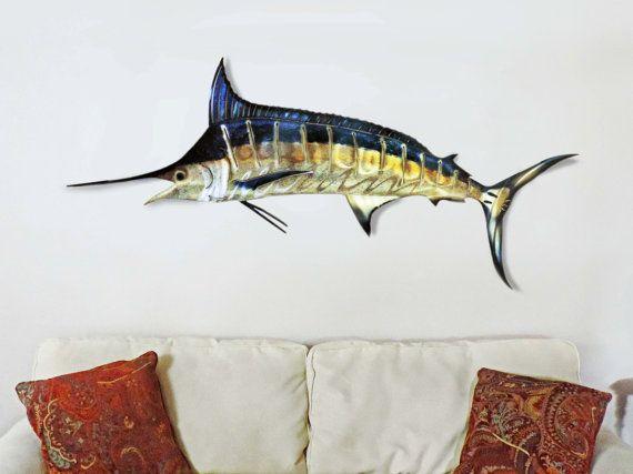 Mega Marlin 3d Metal Wall Art 3d Metal Wall Art Metal Wall Art Sea Inspired Art