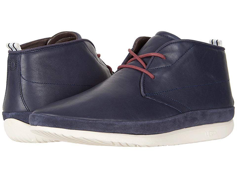 3b0b71aee4e UGG Cali Chukka (Navy Leather) Men's Shoes. From casual Fridays to ...