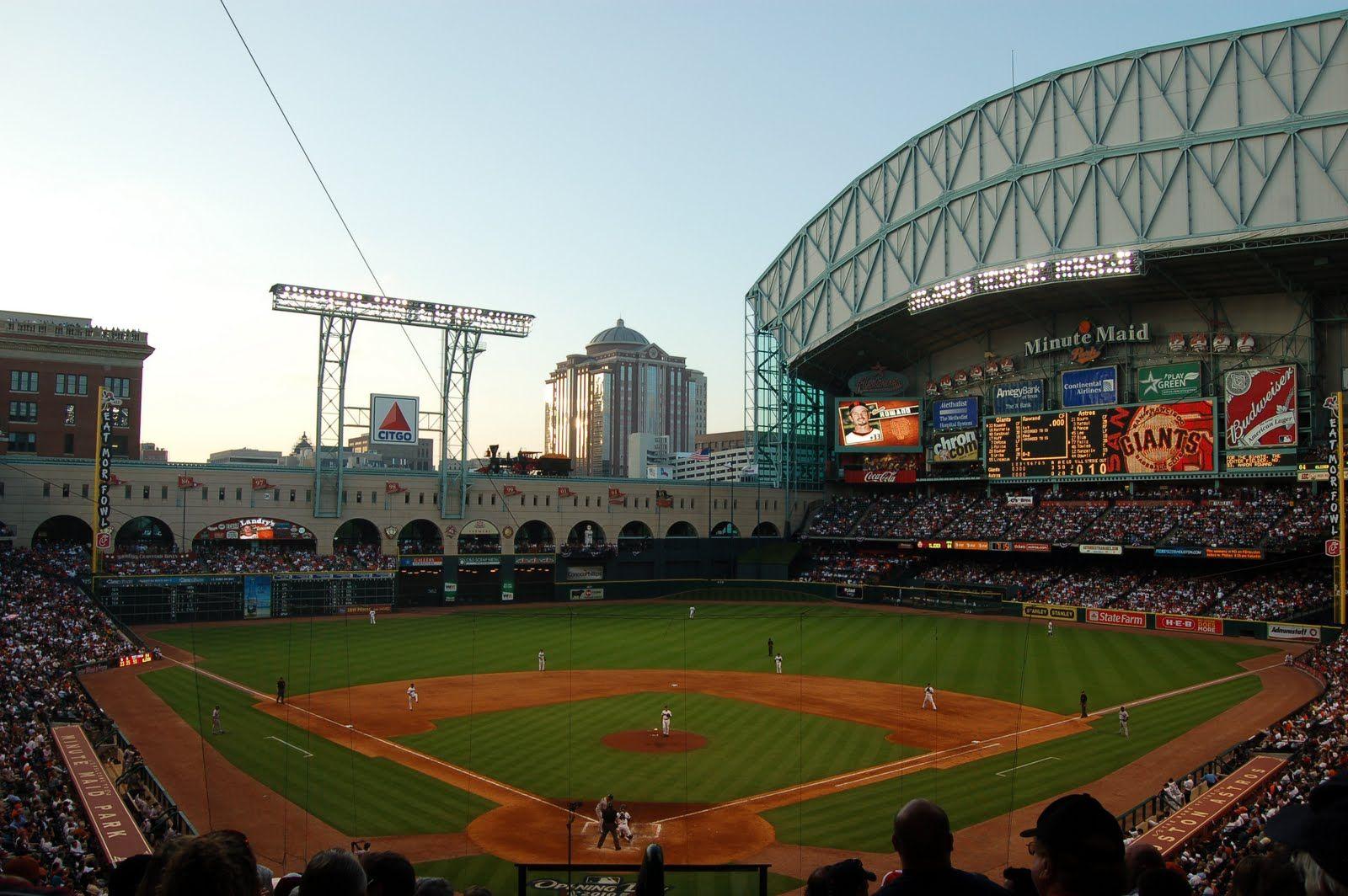 Houston Minute Maid Park Downtown Houston Baseball Stadium