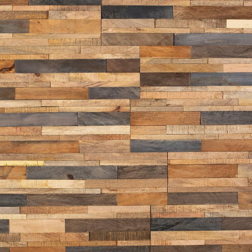 Tropical Mix Peel And Stick Reclaimed Wood Wall Panel In 2020 Wood Panel Walls Reclaimed Wood Wall Panels Reclaimed Wood Wall