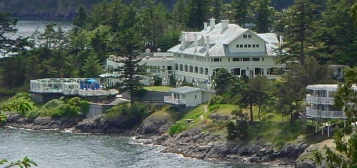 Language In 45 And 47 Stella Street: Aerial View Of Moran Mansion At Rosario Resort, Orcas