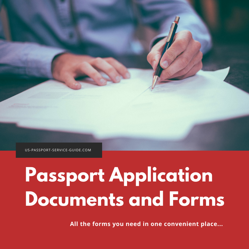 The United States passport application form you submit