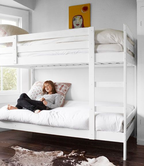 16 Simple Lovely Ideas For White Rooms White Bunk Beds Bunk Beds For Girls Room Ikea Bunk Bed