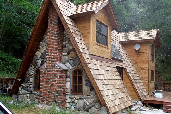 Do It Yourself Home Design: Eco Friendly House A Frame Cabin Plans