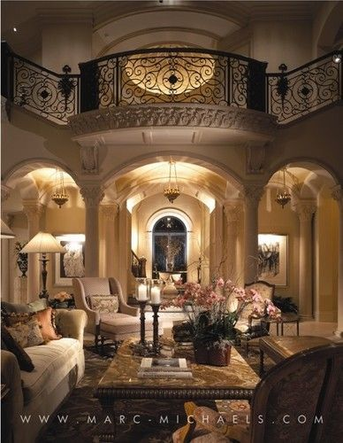 Marc Michaels Interior Design Mediterranean Living Room Other