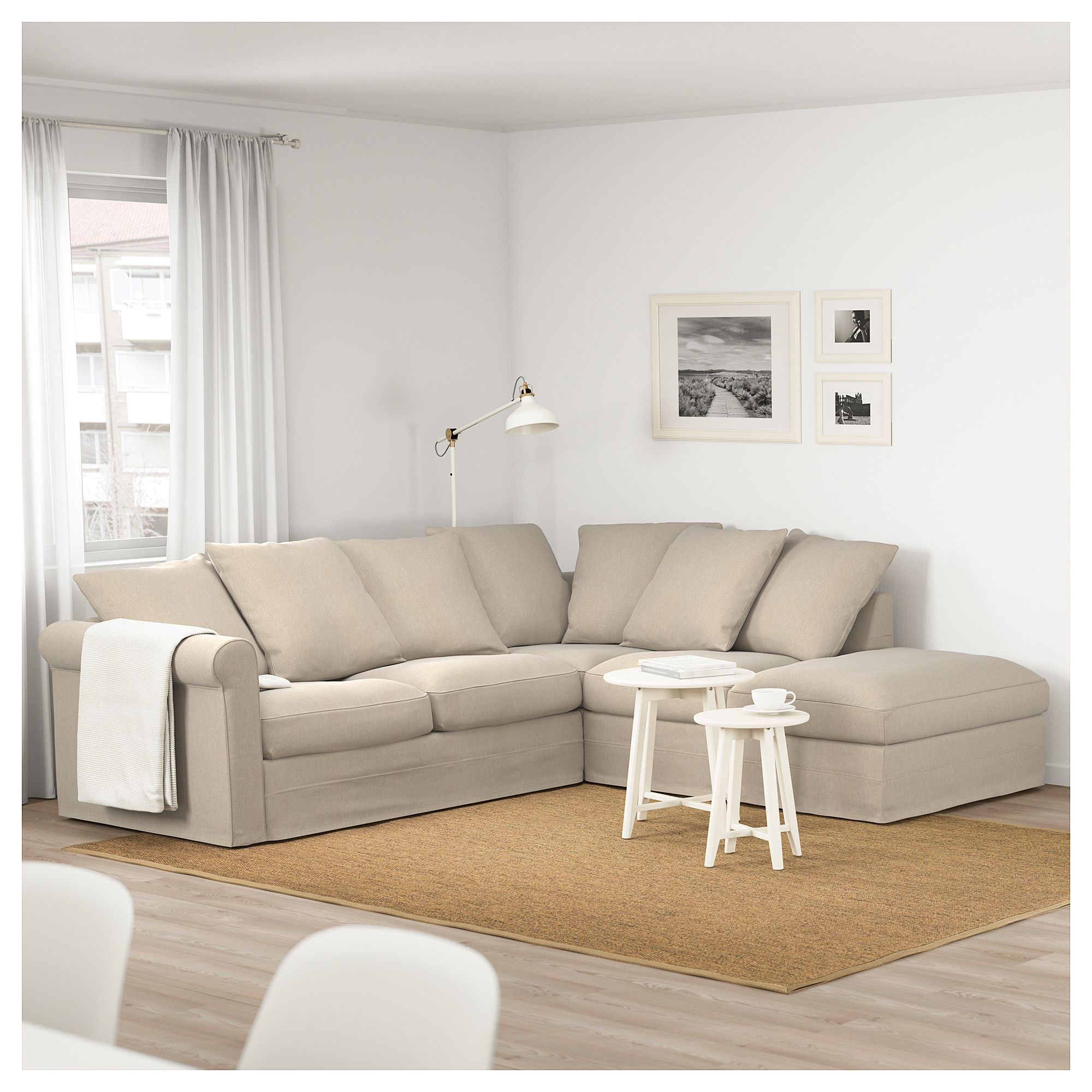 Gronlid Corner Sofa 4 Seat With Open End Sporda Natural With Open End Sporda Natural Modular Sectional Sofa Ikea Sofa Corner Sofa