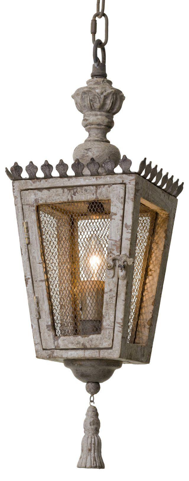 Chateau Lantern, Distressed Metal Metal lighting, French