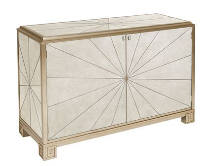 Elegant Pearson Furniture Art Deco Cabinet Wrapped In Ivory Leather Faux Shagreen,  Available At Giorgi Bros