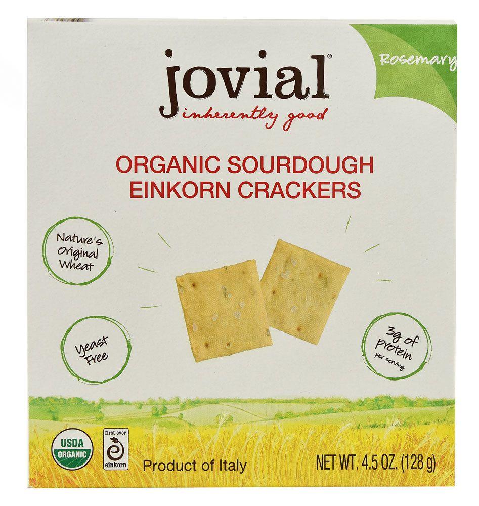 Jovial Organic Sourdough Einkorn Crackers Rosemary -- 4.5 oz - Vitacost