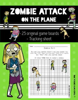 zombie attack coordinate plane plotting points game math school resources and primary education. Black Bedroom Furniture Sets. Home Design Ideas
